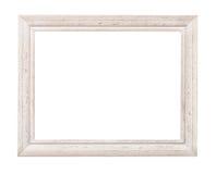 Cornice rustica bianca Fotografia Stock