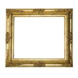 Cornice strutturata decorata del grande oro Fotografia Stock