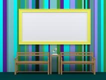 Cornice sulla parete Fotografie Stock