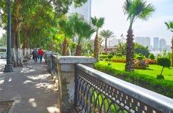 Corniche堤防,开罗,埃及 库存照片