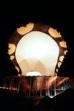 corniche多哈喷泉牡蛎珍珠卡塔尔 免版税库存照片