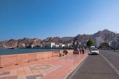 Corniche的,马斯喀特,阿曼游人 免版税图库摄影