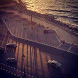 Corniche (亚历山大) 免版税图库摄影