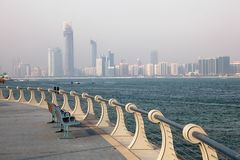 Corniche in Abu Dhabi. United Arab Emirates Royalty Free Stock Photo