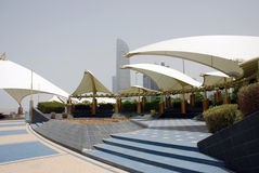 The corniche in Abu Dhabi Royalty Free Stock Images
