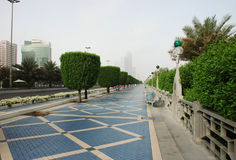 The corniche in Abu Dhabi Stock Photo