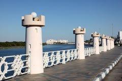 Corniche in Abu Dhabi Stockfotos