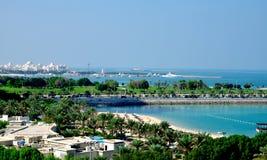Corniche Abu Dhabi Arkivfoton