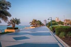 Corniche - Abu Dhabi, Förenade Arabemiraten Royaltyfri Fotografi