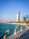 Corniche - Abu Dhabi, Förenade Arabemiraten Royaltyfri Bild