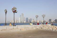 Corniche in Abu Dhabi, UAE Lizenzfreies Stockbild