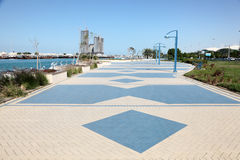 Corniche in Abu Dhabi. United Arab Emirates Royalty Free Stock Images