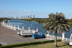 Corniche in Abu Dhabi Royalty Free Stock Photography