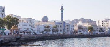 Corniche av Mutrah, Muscat, Oman royaltyfri fotografi