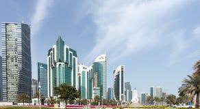 Corniche de Doha Imágenes de archivo libres de regalías