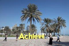 Corniche de Doha, Qatar Imagen de archivo libre de regalías
