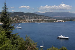 Corniche de l'Esteral - French Riviera stock images
