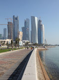 The Corniche in Doha, Qatar Royalty Free Stock Images