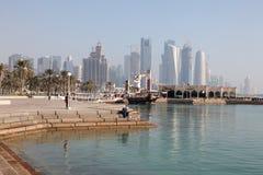 Corniche in Doha, Qatar Stock Photo