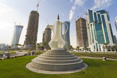 The Corniche, Doha, Qatar Stock Photo