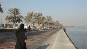 Corniche in Doha, Qatar stock video