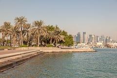 Corniche in Doha, Qatar Stock Photos
