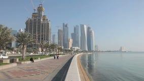 Corniche em Doha, Qatar Foto de Stock Royalty Free