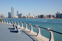 Corniche en Abu Dhabi Imágenes de archivo libres de regalías