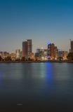 Corniche gata i Sharjah Royaltyfri Foto