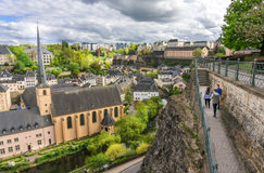 Corniche and Grund, Luxembourg Royalty Free Stock Photos
