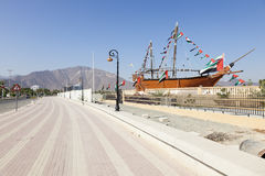 Corniche in Khor Fakkan, UAE Royalty Free Stock Image