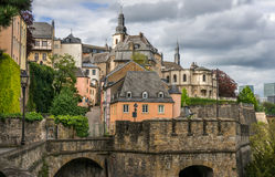 Corniche, Luxembourg City Stock Photos