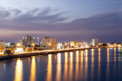 Corniche in Ras al Khaimah at dusk Stock Image
