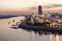 Corniche in Ras al Khaimah at dusk Royalty Free Stock Photo