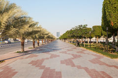 Corniche in Ras Al Khaimah. United Arab Emirates stock image
