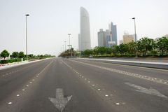 Corniche road in Abu Dhabi Stock Photos