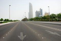 Corniche Straße in Abu Dhabi Stockfotos