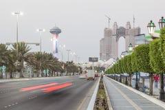 Corniche Straße in Abu Dhabi Stockfotografie