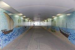 Corniche-Tunnel in Abu Dhabi, UAE Lizenzfreie Stockfotografie