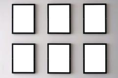 Cornici bianche della parete Fotografia Stock Libera da Diritti