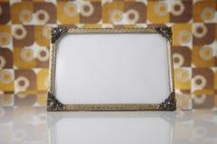 Cornici in bianco, oro Fotografie Stock