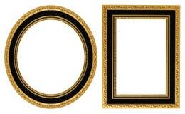Cornici dell'oro Fotografie Stock Libere da Diritti