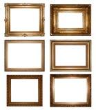 Cornici dell'oro dell'annata Fotografie Stock Libere da Diritti
