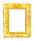 Cornici dell'oro Su bianco Immagini Stock