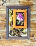 cornici e fiori e foglie Immagine Stock Libera da Diritti