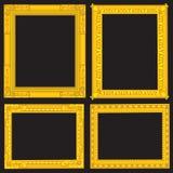 Cornici operate dell'oro Fotografia Stock Libera da Diritti