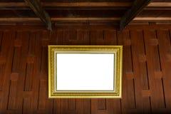 Cornici sulla parete tailandese di legno di stile Immagini Stock