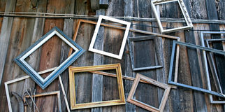 Cornici vuote Fotografia Stock