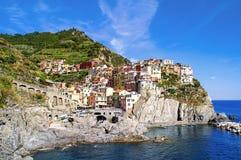 Corniglia镇的看法在五乡地 库存照片