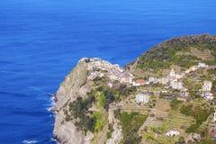 Corniglia architecture from the sea Stock Photo